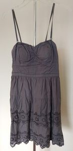 Dark gray strap/strapless party dress